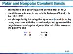 polar and nonpolar covalent bonds1