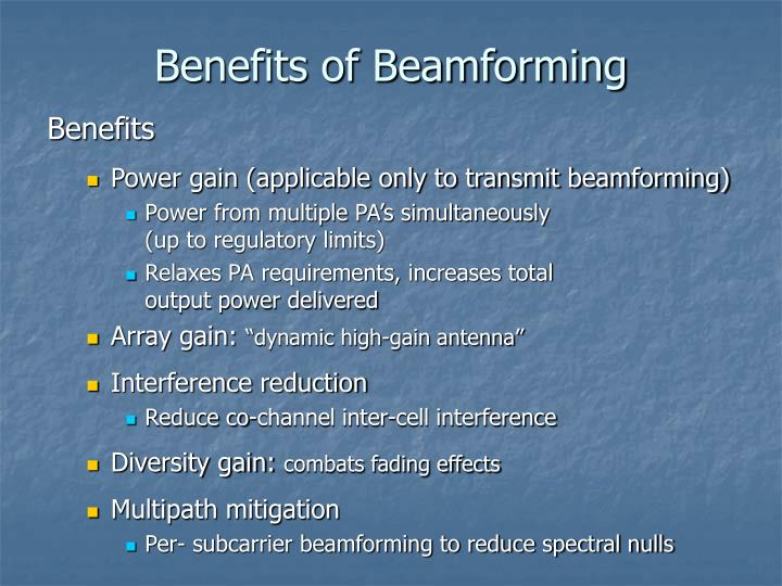 Benefits of Beamforming