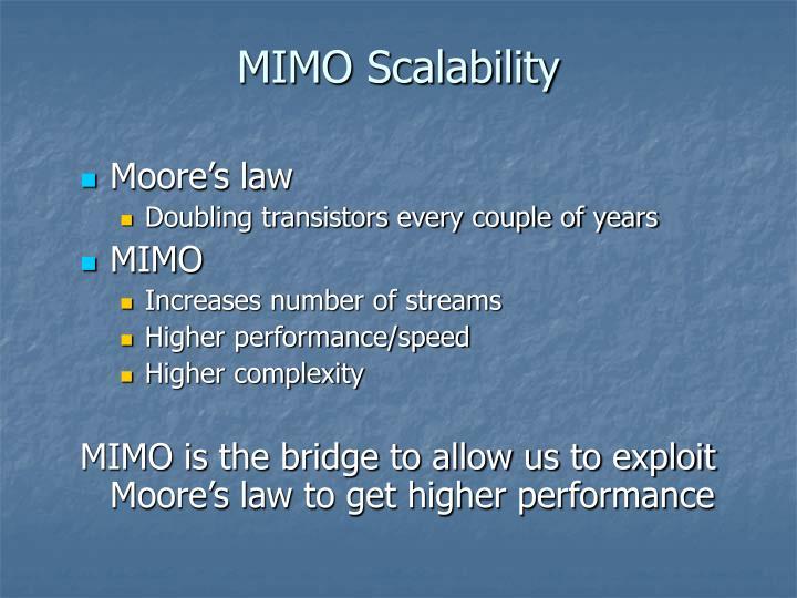 MIMO Scalability