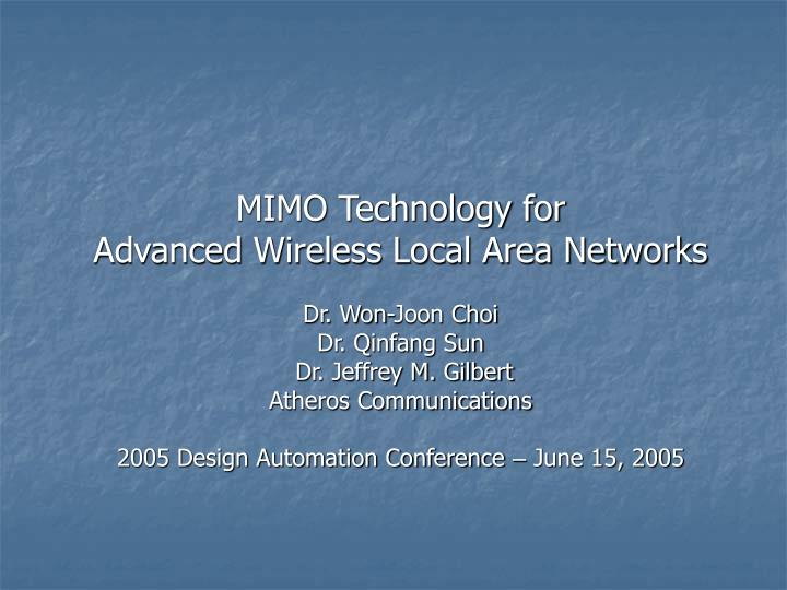 MIMO Technology for