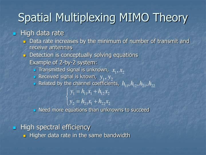 Spatial Multiplexing MIMO Theory