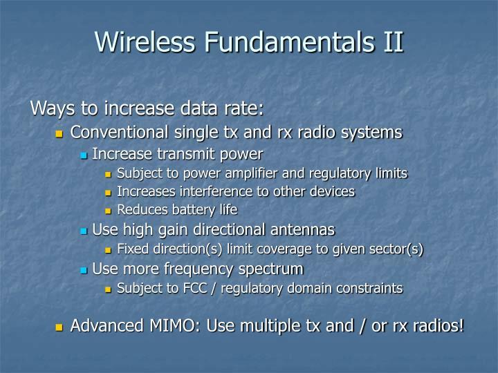 Wireless Fundamentals II