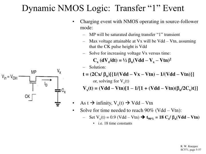 "Dynamic NMOS Logic:  Transfer ""1"" Event"