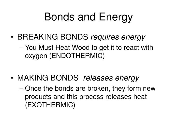 Bonds and Energy