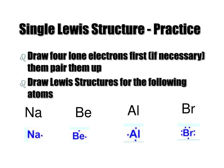 Single Lewis Structure - Practice