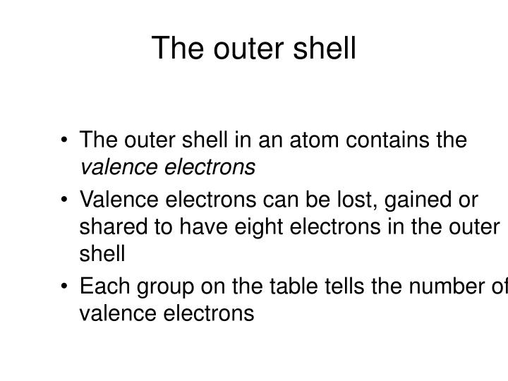 The outer shell