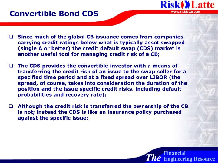 Convertible Bond CDS