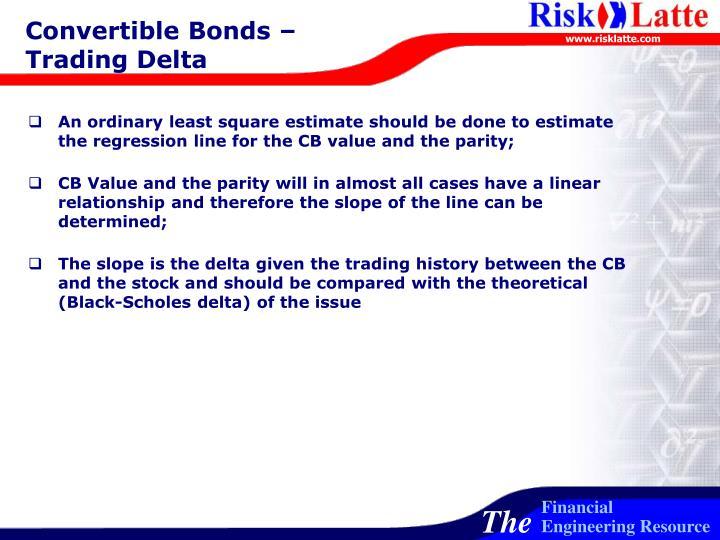 Convertible Bonds – Trading Delta