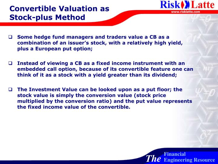 Convertible Valuation as