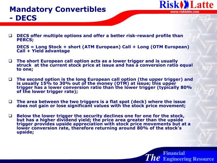 Mandatory Convertibles - DECS