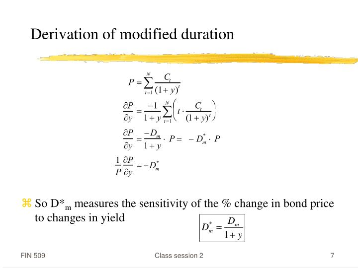 Derivation of modified duration