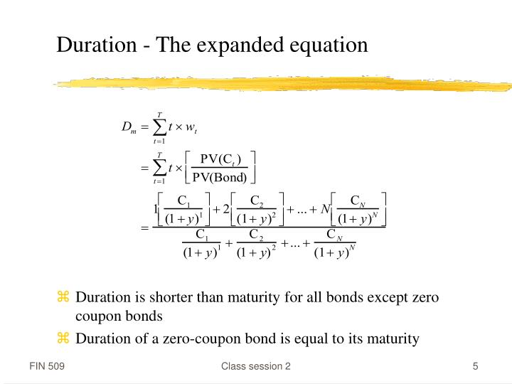 Duration - The expanded equation