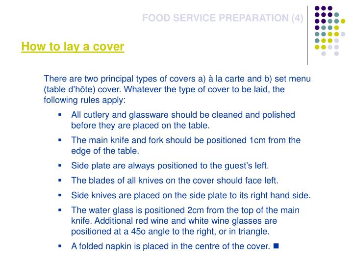 How to lay a cover