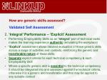 how are generic skills assessed3