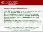 where are generic skills developed1