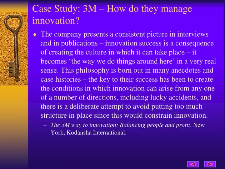 Case Study: 3M – How do they manage innovation?