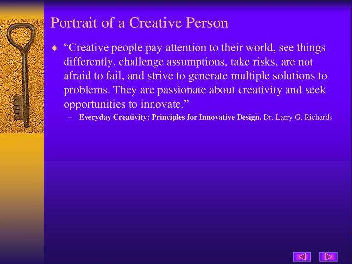 Portrait of a Creative Person