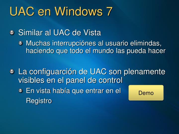 UAC en Windows 7