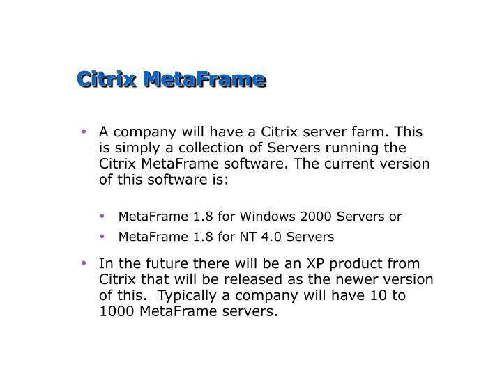 Citrix MetaFrame