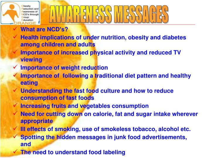AWARENESS MESSAGES