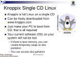 knoppix single cd linux