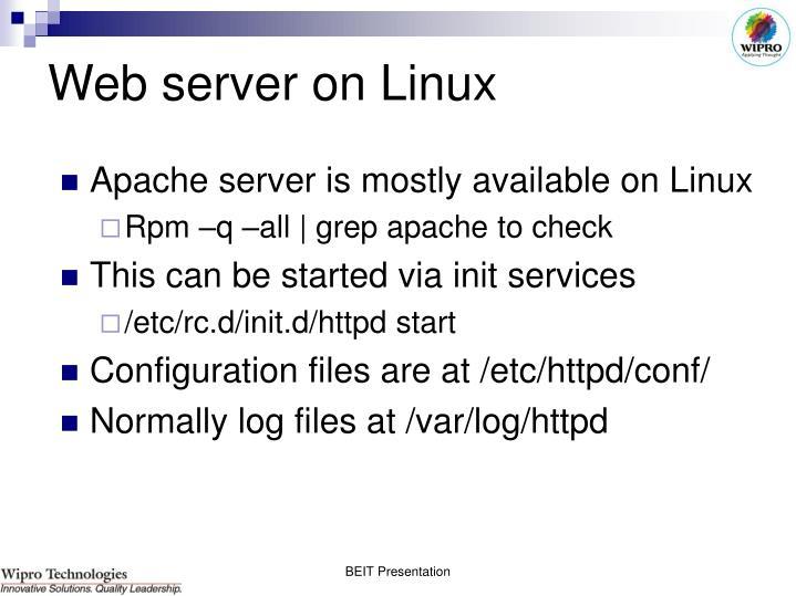Web server on Linux