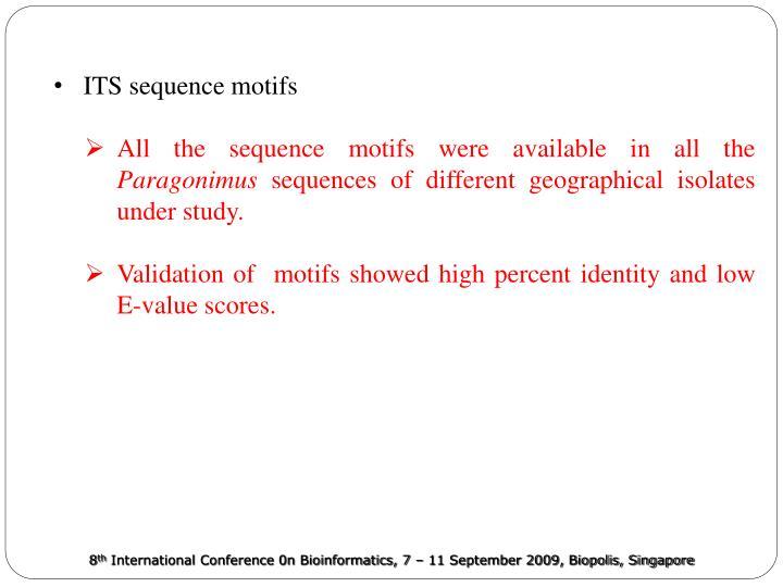 ITS sequence motifs