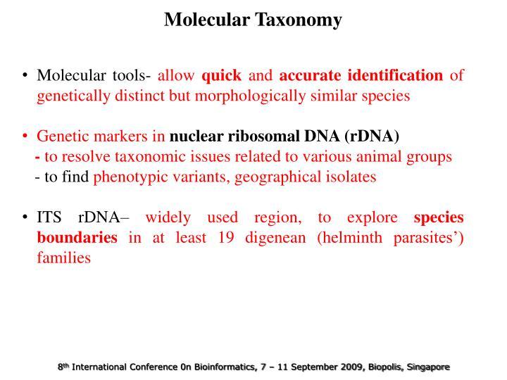 Molecular Taxonomy