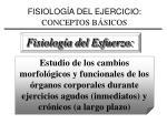 fisiolog a del ejercicio conceptos b sicos