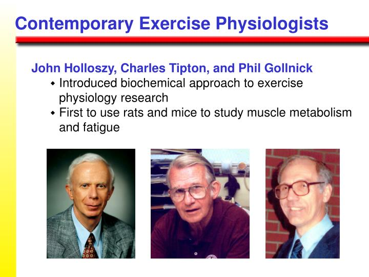 Contemporary Exercise Physiologists