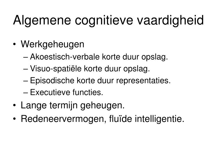 Algemene cognitieve vaardigheid