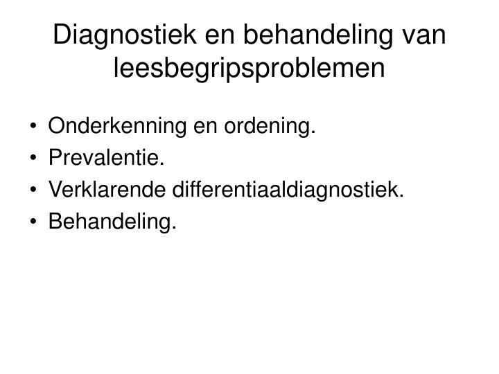 Diagnostiek en behandeling van leesbegripsproblemen