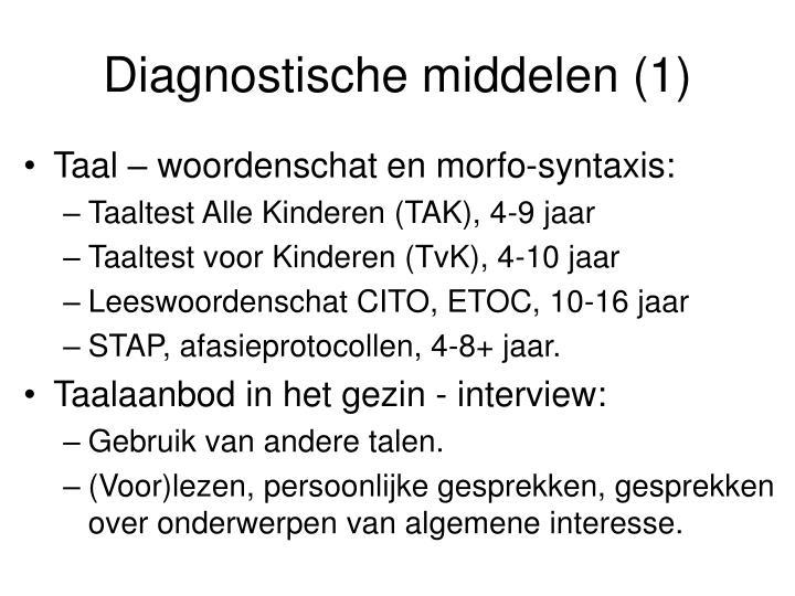 Diagnostische middelen (1)