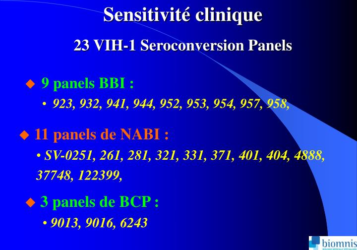 Sensitivit clinique