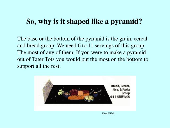 So, why is it shaped like a pyramid?