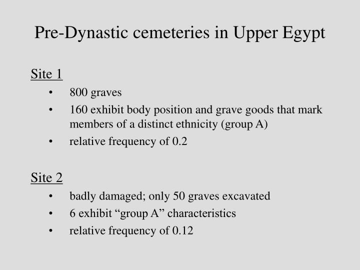 Pre-Dynastic cemeteries in Upper Egypt