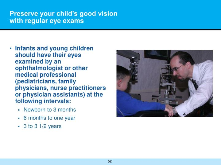 Preserve your child's good vision with regular eye exams