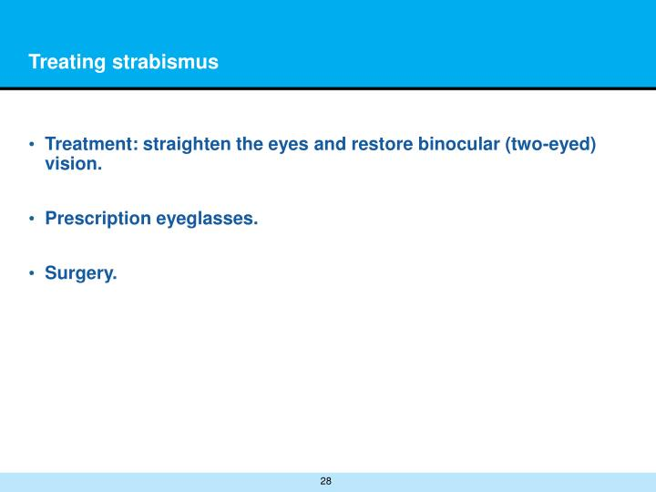 Treating strabismus