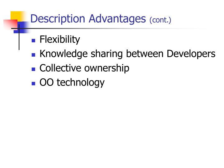 Description Advantages