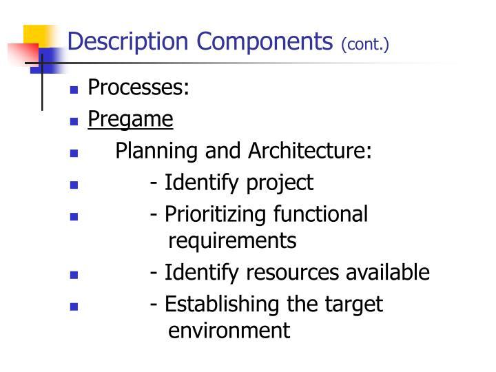 Description Components