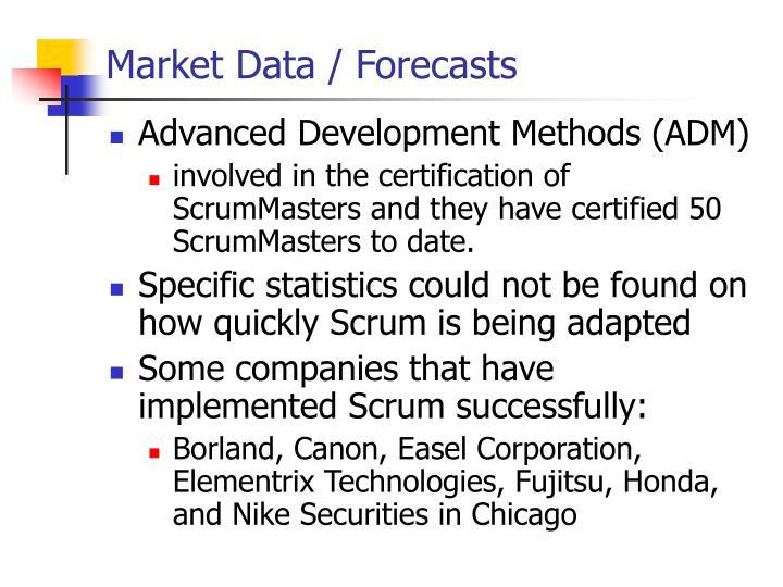 Market Data / Forecasts