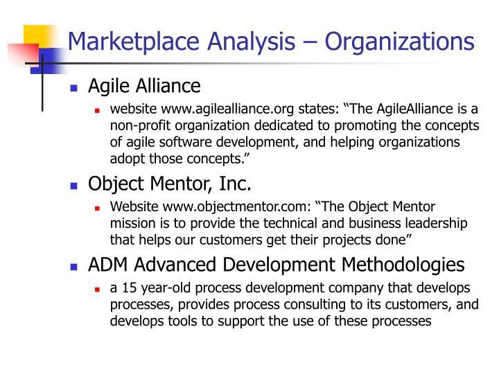 Marketplace Analysis – Organizations