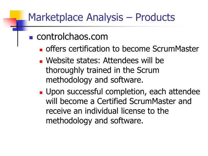 Marketplace Analysis – Products