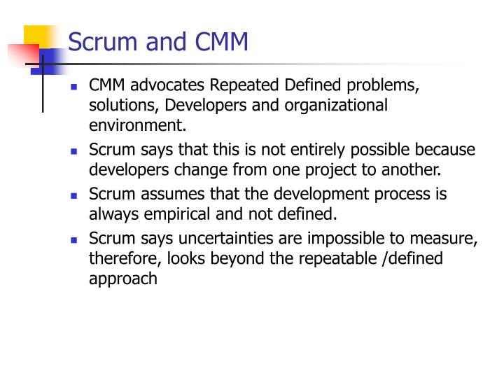 Scrum and CMM