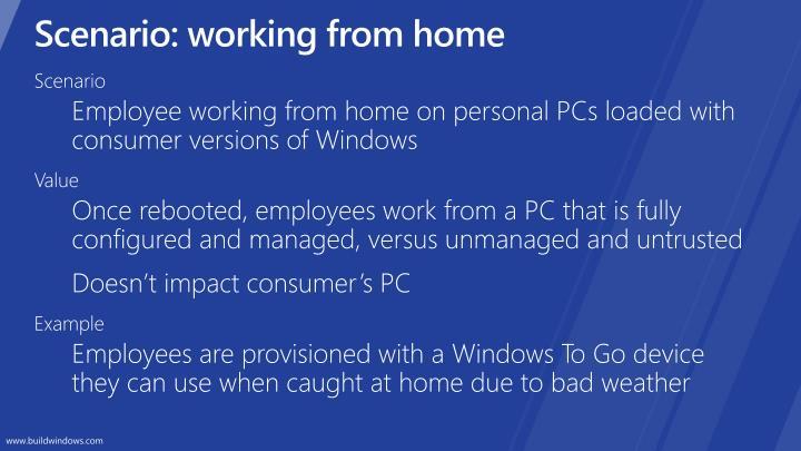 Scenario: working from home