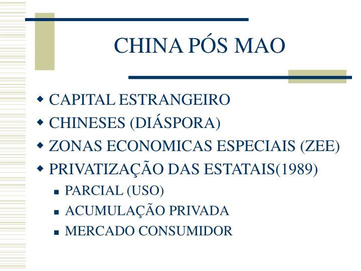 CHINA PÓS MAO
