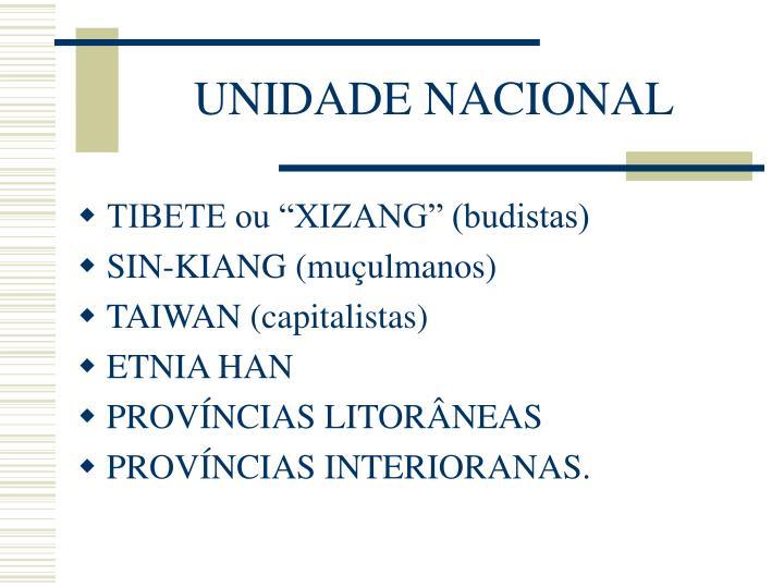UNIDADE NACIONAL