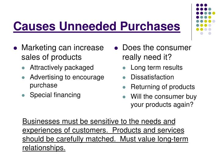 Marketing can increase sales of products