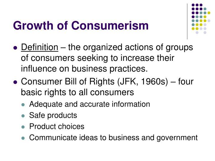 Growth of Consumerism