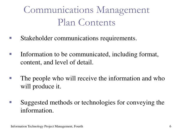 Communications Management